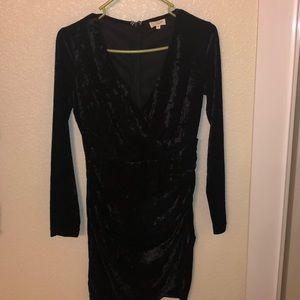 Black velvet dress, size M